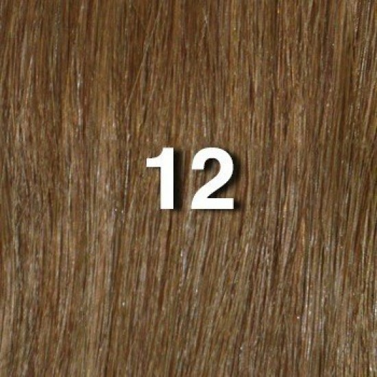 18 clip in - 9pcs 100% human hair extensions - wavy -light golden brown (12)