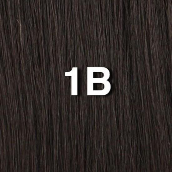 18 clip in - 9pcs 100% human hair extensions - off black (1b)