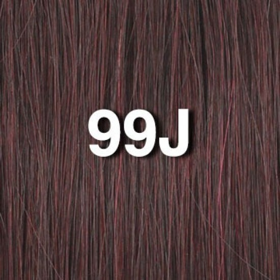18 clip in - 9pcs 100% human hair extensions - dark wine/red (99j/red)
