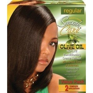 Smooth Care Olive Oil No-lye Conditioning Creme Relaxer Kit 2 Applications Value Pack Regular