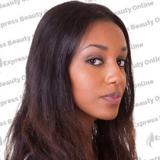 18 clip in - 9pcs 100% human hair extensions - dark brown (2)