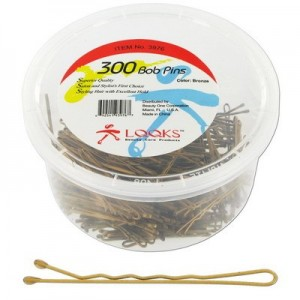 "Ebo 2"" 300pc/jar Bobby Pin Bronze"