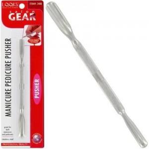 Ebo Salon Gear Mani/pedi Metal Pusher Dual Tip Blister