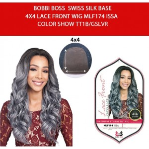 Bobbi Boss Synthetic Swiss Silk Base 4x4 Lace Front Wig Mlf174 Issa