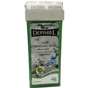 Depimiel Brazilian Hair Removal Wax Roll On System With Honey 3.52oz
