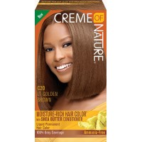 creme of nature exotic shine color #c20 - light golden brown