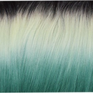 "18"" clip in - 7pcs synthetic hair extension -straight- black grey green pastel(p1b/lm/m)"