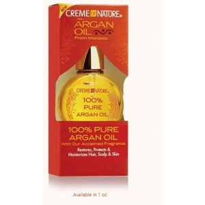 creme of nature 100% pure argan oil