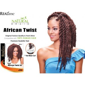 Beauty Element Synthetic Hair Crochet Braid African Twist 26""