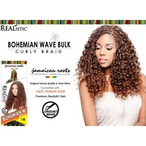 Beauty Element Synthetic Hair Crochet Braid Bohemian Wave Bulk 24""