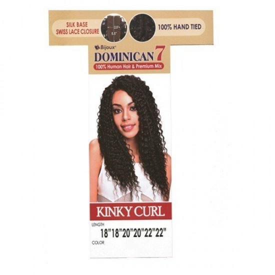 Bijoux Beauty Element Dominican 7 Kinky Curl Human Hair & Premium Mix Weave 18+20+22