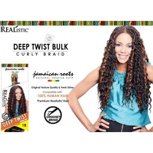 Beauty Element Synthetic Hair Crochet Braid Deep Twist Bulk 24""