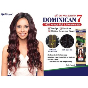 "Bijoux Beauty Element Dominican 7 Natural Curl Human Hair & Premium Mix Weave 18""+20""+22"""