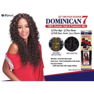 "Bijoux Beauty Element Dominican 7 Beach Curl Human Hair & Premium Mix Weave 18""+20""+22"""