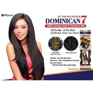 """Bijoux Beauty Element Dominican 7 Blow Out Human Hair & Premium Mix Weave 18""""+20""""+22"""""""