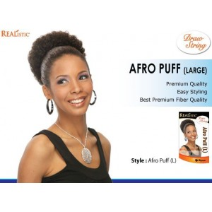 Beauty Element Snythetic Draw String Afro Puff Large