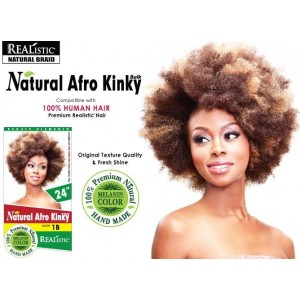 Beauty Element Synthetic Hair Crochet Braid Afro Kinky Bulk 24""