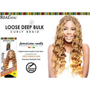 Beauty Element Synthetic Hair Crochet Braid Loose Deep Bulk 24""