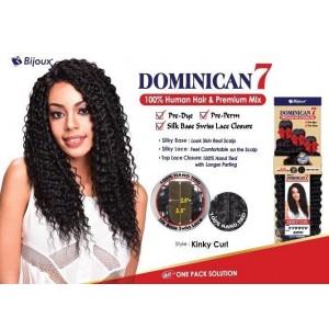 "Bijoux Beauty Element Dominican 7 Kinky Curl Human Hair & Premium Mix Weave 18""+20""+22"""