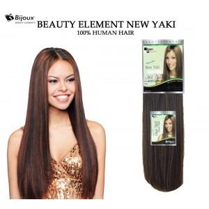 "Bijoux Beauty Element New Yaki Straight 100% Human Hair Weave 18"""