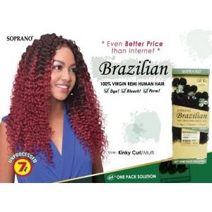"""Bijoux Beauty Element Soprano 100% Unprocessed Brazilian Virgin Remi Human Hair Weave Kinky Curl 14""""+16""""+18"""""""