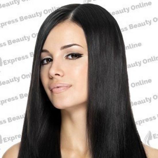 18 clip in - 9pcs 100% human hair extensions - jet black (1)