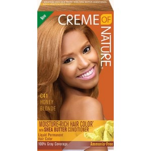 CREME OF NATURE MOISTURE-RICH HAIR COLOR WITH SHEA BUTTER CONDITIONER C41 Honey Blonde
