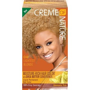 CREME OF NATURE MOISTURE-RICH HAIR COLOR WITH SHEA BUTTER CONDITIONER C40 Lightest Blonde