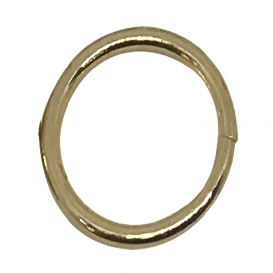 Ebo Braid Hair Ring Hair Decorations Gold Ring 15 Mm 12 Pcs