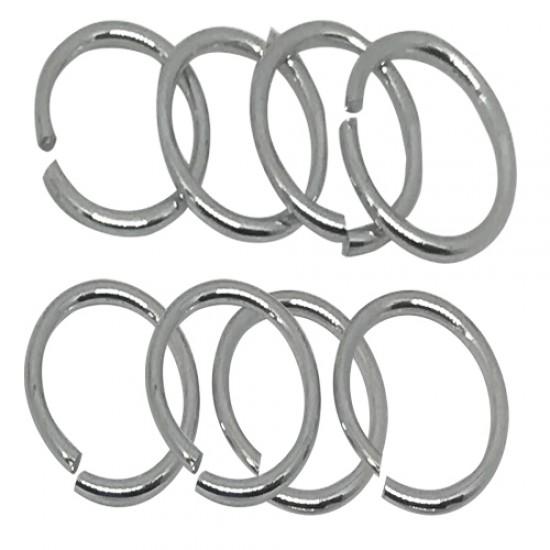 Ebo Braid Hair Ring Hair Decorations Silver Ring 15 Mm 12 Pcs