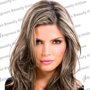 "20"" elastic hair curly - human hair feel extensions - medium ash brown/pure blonde (10/613)"