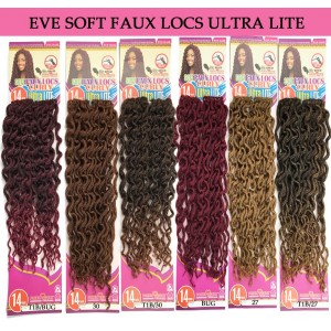 Eve Synthetic Hair Crochet Braid Loop Soft Faux Locs Curly 14""