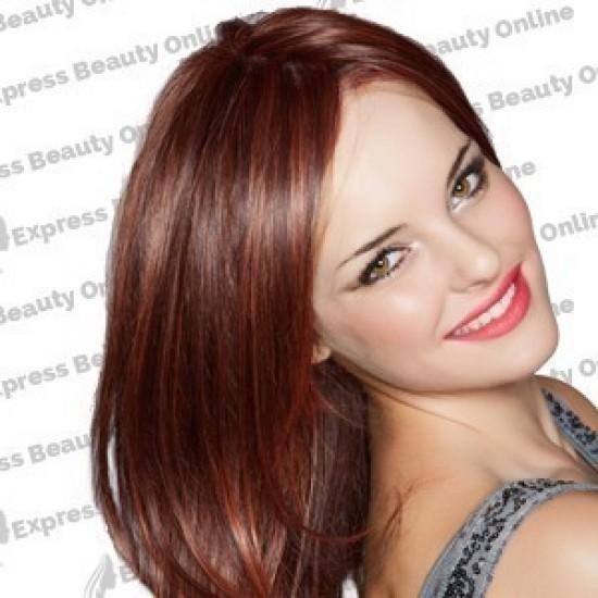 18 clip in - 9pcs 100% human hair extensions - dark auburn (33)