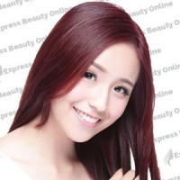 """22"""" clip in - 9pcs 100% human hair extensions - dark wine/red (99j/red)"""