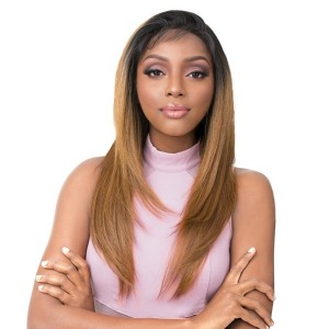 Its A Wig 100% Human Hair Premium Mix Vixen Y 3 Way Lace Front Part Wig Yaki Straight