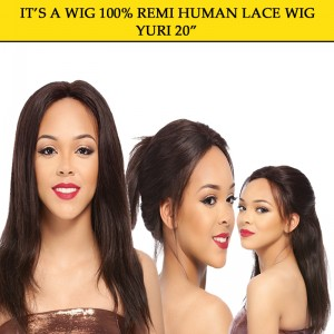"Its A Wig 100% Remi Human Hair Lace Wig Yuri 20"""