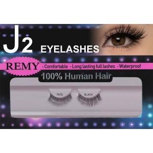 J2 Eyelashes 100% Remy Human Hair  #747s Black