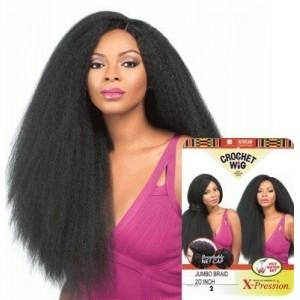 "sensationnel african collection  crochet  synthetic wig jumbo braid 20"""