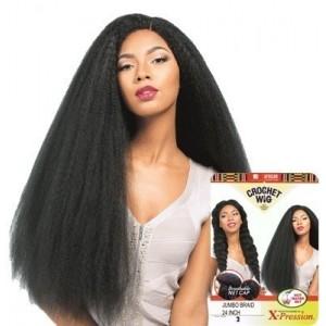 "Sensationnel African Collection  Crochet  Synthetic Wig Jumbo Raid 24"""