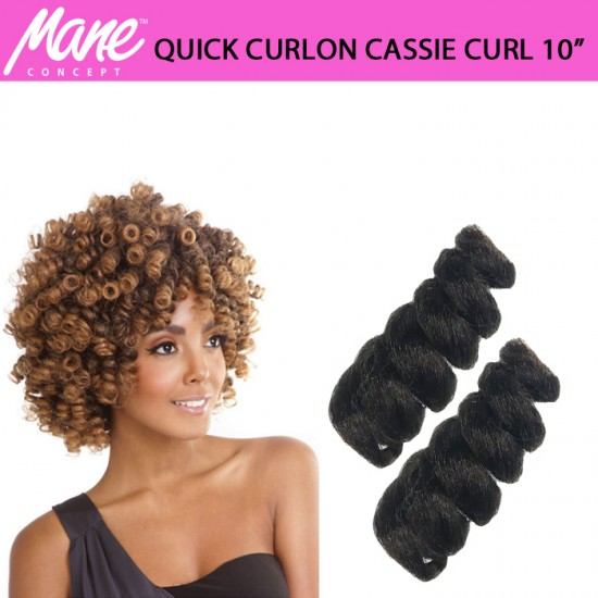 Mane Concept Afri Synthetic Hair Crochet Braid Loop Quick Curlon Cassie Curl 10