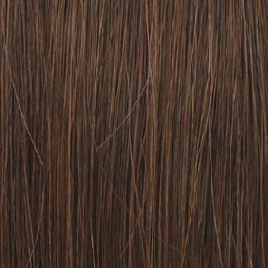 18 clip in - 9pcs 100% human hair extensions - medium brown (4)