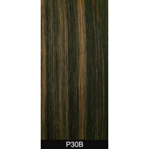 "14"" clip in 10 pcs 100% human remi hair extensions - auburn (30b)"