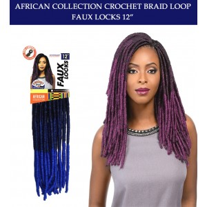 "Sensationnel Synthetic Hair Crochet Braid Loop Faux Locks 12"""