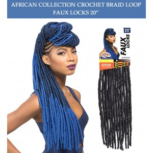 "Sensationnel Synthetic Hair Crochet Braid Loop Faux Locks 20"""