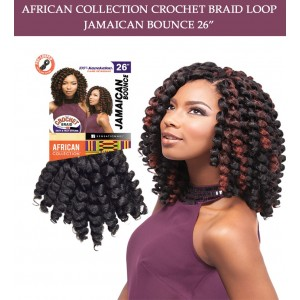 Sensationnel Synthetic Hair Crochet Braid Loop Jamaican Bounce 26""