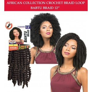 Sensationnel Synthetic Crochet Braid African Collcetion Bantu Braid Loop 12""