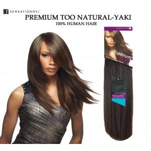 Sensationnel Premium Too Natural Yaki Straight 100% Human Hair Weave