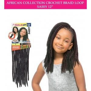 "Sensationnel Synthetic Hair Crochet Braid Loop Kids Sassy 12"""
