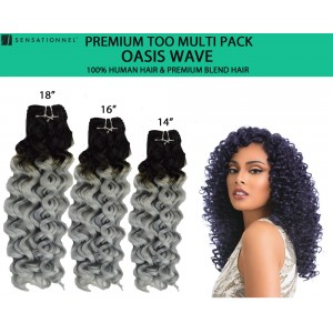 Sensationnel Premium Too Multi Pack 100% Human Hair & Premium Blend Hair Weave Oasis Wave