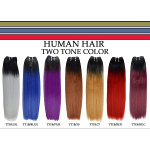 Two Tone Yaki Straight Human Hair Weave